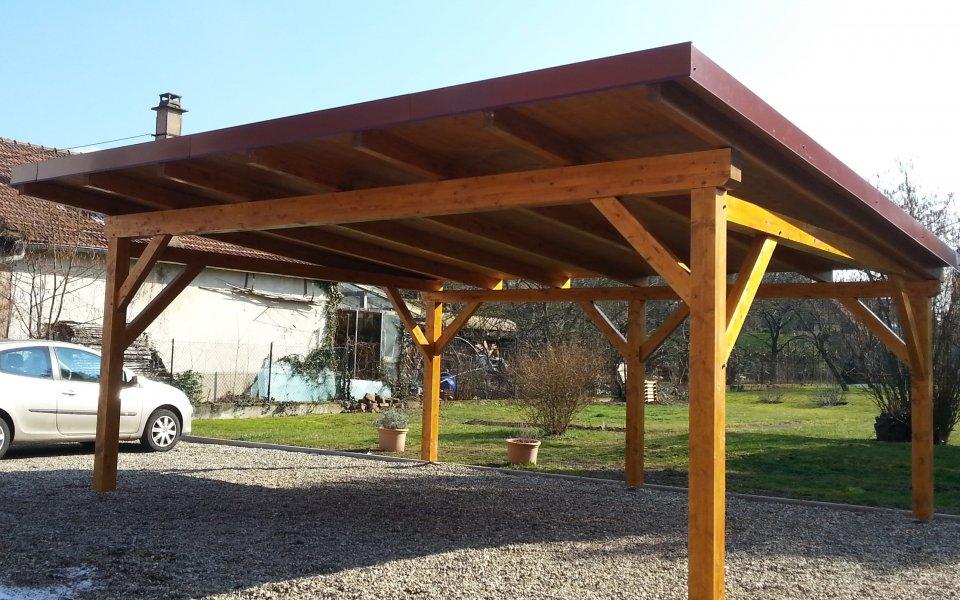 Les abris en bois pour voiture artzari blog annuaire et articles s lectionn s - Protection toit abri de jardin ...